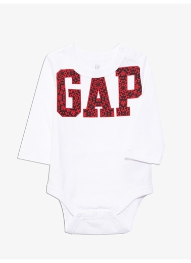 Gap Gap Logo Uzun Kollu Body Beyaz